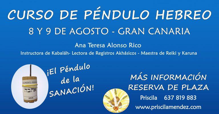 Curso de Péndulo Hebreo, Priscila Méndez Segura
